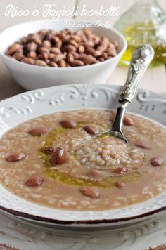 Rice and pinto beans - Riso e Fagioli borlotti