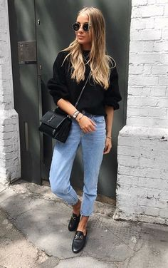 Cute Spring Outfits, Cool Outfits, Casual Outfits, Winter Outfits, Outfit Summer, Casual Bags, Look Fashion, Fashion Models, Fashion Black