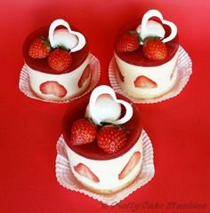 "Recipe/Tutorial: Yumeiro Pâtissiere ""Hearts In Love"" Strawberry Bavarois 