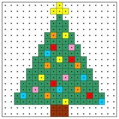 Karácsonyfa minta az egyszerűség jegyében. Elkészítenéd? Rendelj hozzá…