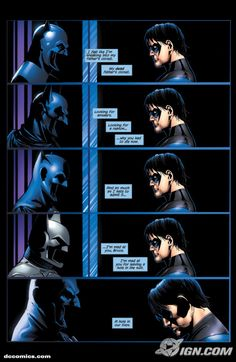 nightwing mad at bruce <----- :( poor nightwing baby don't worry just keep going as the new batman and he'll come back and it'll all be good baby!!!!!!!! *sobs* (okay i get emotional about this stuff, I'm a fangirl.)