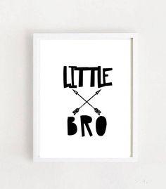 Little Bro Printable Art Kids Room Decor Boys Room Wall Kids Room Wall Art, Boys Room Decor, Kids Bedroom, Printable Art, Printables, Gifts For Brother, Art Kids, Wall Decor, Home Decor