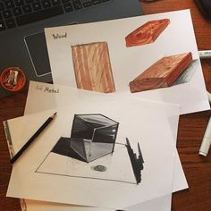 Making wood and metal trying out @sketchadaydotcom tutorials on sketching materials. Fun and challengine! #sketch #sketching #productdesign #design #industrialdesign #copic #sketchaday #conceptsketch #idsketching #idsketch #designsketching  #designsketch #marker #sketchbook #drawing #concept #illustration #material by philip_jkb