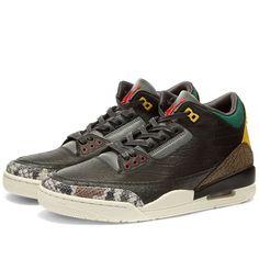 Air Jordan 3 Retro SE Black, White & Gorge Green | END. Most Expensive Handbags, Crocodile Skin, Air Jordan 3, Jordans, Black White, Product Launch, Footwear, Mens Fashion, Nike