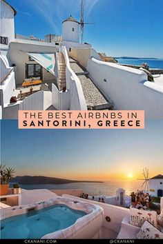 If you are wondering where to stay in Santorini or specifically looking for Airbnb Santorini rentals, you have come to the right place! I've rounded up the twelve best Santorini Airbnb options in the best place to stay in Santorini. Greece Travel, Greece Trip, Greece Vacation, Cheap Hotels In Santorini, Best Hotels In Greece, Greek Island Holidays, Cave Hotel, Jacuzzi Outdoor, Greece Holiday
