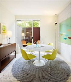gray and yellow dining room tables - Google Search