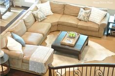 Living room furniture...I would love a sectional like this...