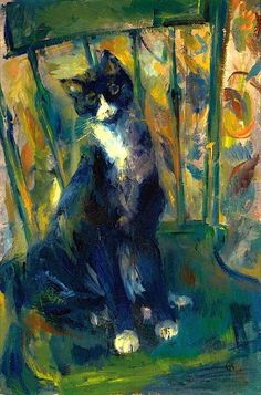 Cat on a Chair Franz Kline