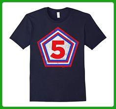 Mens My Superhero 5th Birthday Boys, Girls and Kids T-Shirt 3XL Navy - Superheroes shirts (*Amazon Partner-Link)