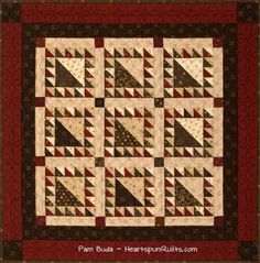 Ginger Snap...one of three new quilts in my new Tokens of the Past: Spice Box pattern series.