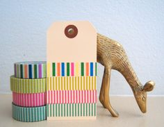 Candy Stripe Washi Tape - four color options | Freckled Fawn