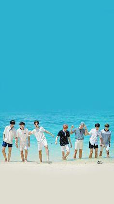 BTS wallpaper BTS summer beach Blue