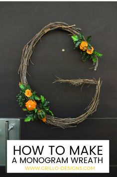 When you're decorating your home for fall, don't forget to add a monogram wreath. It's a pretty decor element that you can either hang on your front door or on the interior walls of your home.