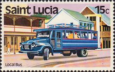 St Lucia 1980 Transport SG 539 Road Fine Mint SG 539 Scott 506 Other Old British Commonwealth Stamps Here