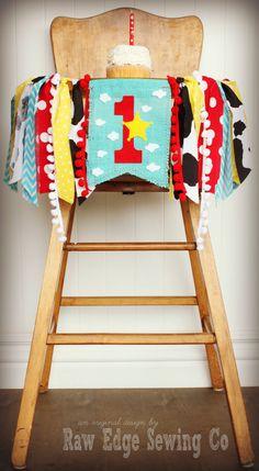 TOY STORY Birthday Age Highchair Highchair by RawEdgeSewingCo
