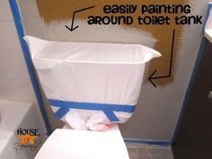 how to paint around a toilet
