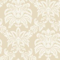The Wallpaper Company 8 in. x 10 in. Beige Majestic Damask Wallpaper Sample-WC1281903S at The Home Depot