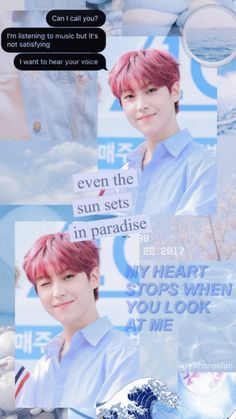 lee eunsang produce x 101 lockscreen light blue aesthetic ( follow me on instagram: @khoneefah ) and dont forget to follow this pin Listening To Music, Singing, Light Blue Aesthetic, I Call You, Galaxy Art, Art Background, Your Voice, Kihyun, Pretty And Cute