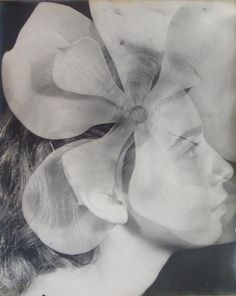 Alicia's portrait!! :)  John Clarence Laughlin, Portrait of Dody Weston Thompson with Flower, Vintage Photograph