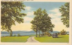 New York #Sacandaga Lake, North Broadalbin  circa 1930 Old Vintage PC
