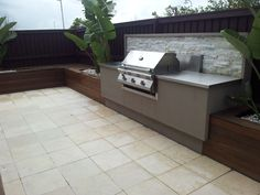 built in BBQ #OUTDOORKITCHEN #KITCHEN