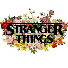 Floral Stranger Things - Black