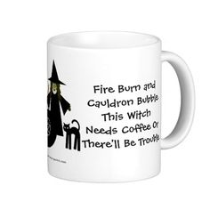 This Witch Needs Coffee! Coffee-addicts Cup/Mug