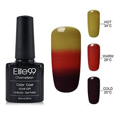 Elite99 10ML UV LED Thermal Temperature Color Changing Gel Nail Polish Soak Off Nail Lacquer 4226