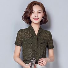 Chiffon blusa nova 2016 verão moda elegante fino mulheres Sexy Chiffon de manga curta Plus size mulheres tops(China (Mainland))