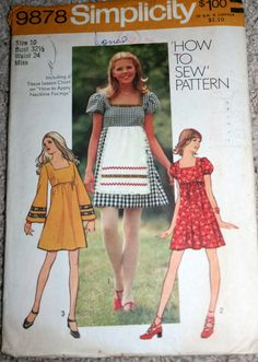 Vintage Simplicity Sewing Pattern
