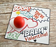 An easy EOS Lip Balm Valentine idea and free print! You're the  Balm valentine