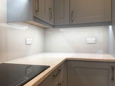 Kitchen Backsplash, Kitchen Cabinets, Glass Splashbacks, Kitchen Lighting, Kitchen Design, Interior Design, Projects, House, Home Decor