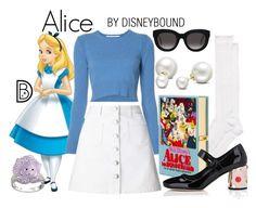"""Alice"" by leslieakay ❤ liked on Polyvore featuring Disney, Kate Spade, Rosetta Getty, Olympia Le-Tan, Miss Selfridge, Prada, Muse, Swarovski, Allurez and disney"