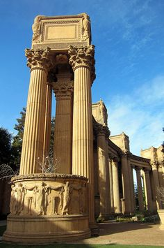 The Palace of Fine Arts was designed by Bernard Maybeck and constructed for 1915 Panama-Pacific Exposition. San Francisco