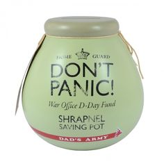 Dads army ceramic pot of dreams dont panic
