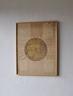 Antique Japanese Hand-Painted Buddhist Sanskrit Character
