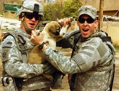 I can't help it. I love dogs. Yet another War Zone Puppy That Will Make You Smile