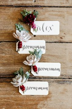 Marsala Wedding | Succulent Boutonniere | Texture | Mary Otanez Photography | The Proper Petal