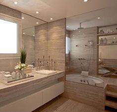 Bathroom Remodeling: How to Choosing Your New Bathtub Bathroom Toilets, Small Bathroom, Master Bathroom, Modern Bathroom Design, Bathroom Interior Design, Bathtub Remodel, Tub Shower Combo, House Design, Ideas