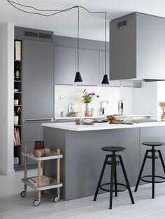 Kjøkkeninspirasjon - Grått kjøkken – Bistro | Drømmekjøkkenet