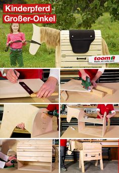 Garden Projects, Projects To Try, Diy For Kids, Crafts For Kids, Diy Kids Furniture, Farm Crafts, Hobby Horse, Diy Crafts For Gifts, Pallet Art