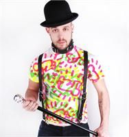 Keith Haring by House of Field Neon All Over Print Tee Patricia Field