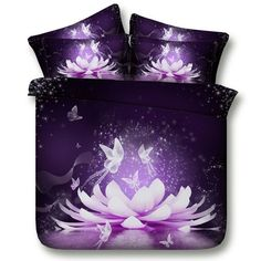 Give your bedroom a modern makeover with the glow in the dark bedding sets for boys. An intricate, vintage-inspired pattern of these glow in the dark bedding sets for boys, giving your room a retro yet sophisticated look. Dark Bedding, Purple Bedding Sets, Double Bedding Sets, King Size Bedding Sets, Girls Bedroom Canopy, Girls Bedroom Sets, Bedroom Night, Butterfly Bedding Set, Childrens Bedroom Furniture