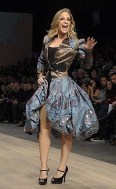 Actress Tara Spencer-Nairn wearing a Nada creation