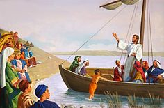 Jesus teaching from the boat