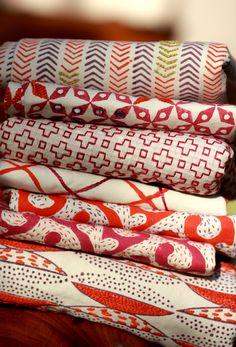 Rani pink- Kesar orange group #seemakrish #textiles