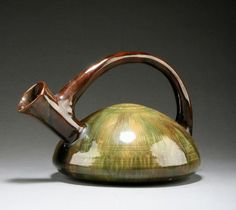 Linthorpe Pottery ewer by Christopher Dresser
