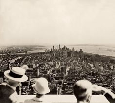 The opening day of the Empire State Building, NYC 1931.