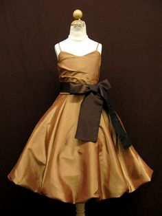 bronze braidsmaid dress