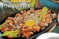 sisig in the philippines. Philippines Tourism, Philippines Culture, President Of The Philippines, Philippine Cuisine, Sisig, Tourism Department, Baguio, Manila, More Fun